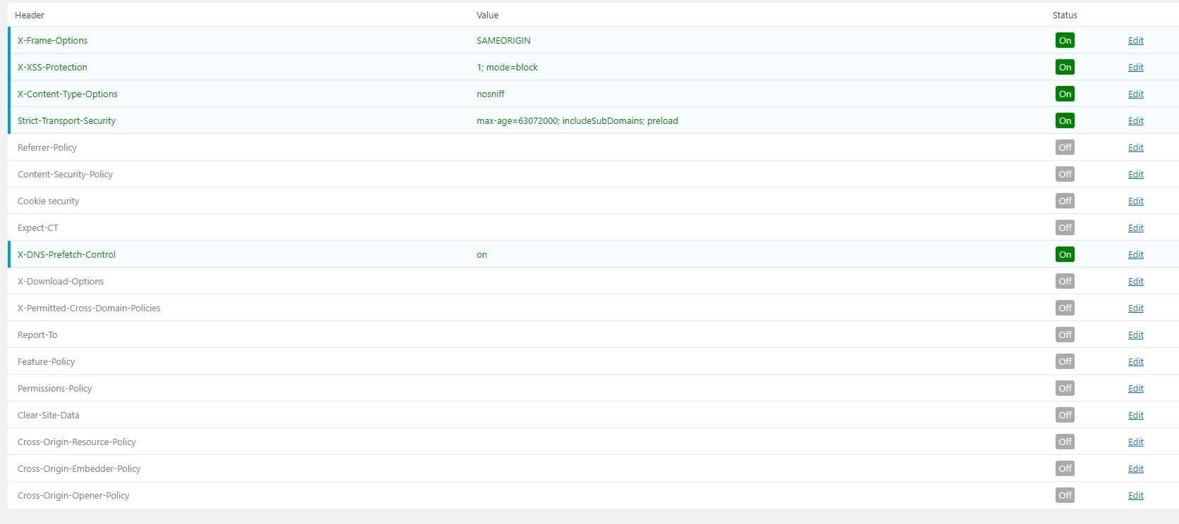 Paramétrages basique du plugin WordPress Http Headers