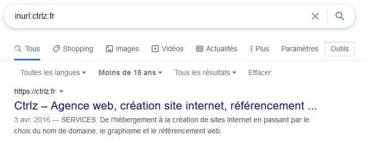 Comment connaître la première date d'indexation d'une url sur Google ?